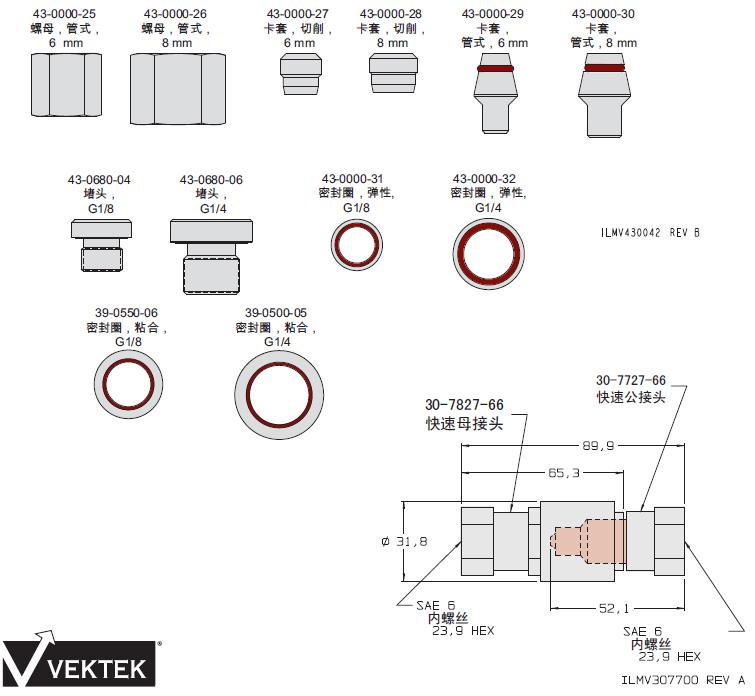 美国威克泰克 (VEKTEK) 液压管接头_快速接头